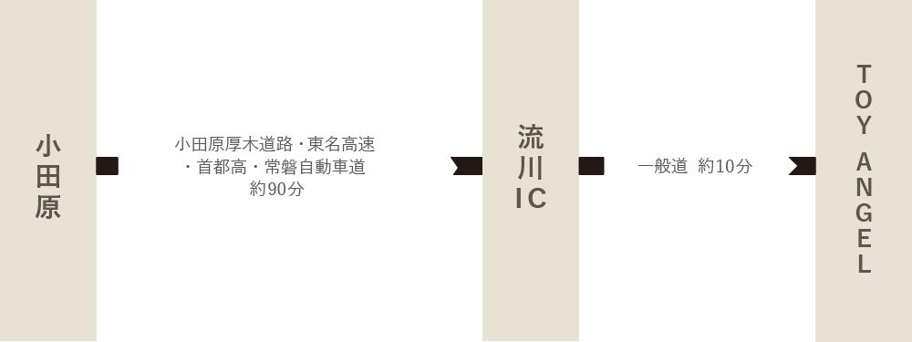 神奈川方面:小田原からお車でお越しのお客様